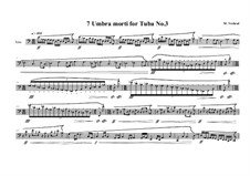 7 Umbra morti for Tuba: Nr.3, MVWV 555 by Maurice Verheul
