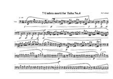 7 Umbra morti for Tuba: Nr.4, MVWV 556 by Maurice Verheul