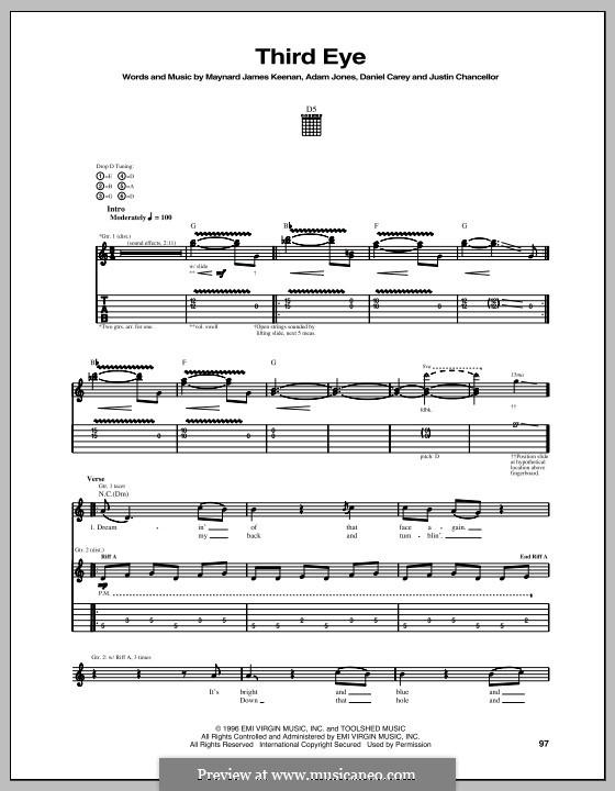 Third Eye (Tool): Für Gitarre mit Tabulatur by Adam Jones, Daniel Carey, Justin Chancellor, Maynard James Keenan