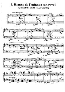 Poetische und religiöse Harmonies, S.173: No.6 Hymne de l'Enfant a son réveil by Franz Liszt