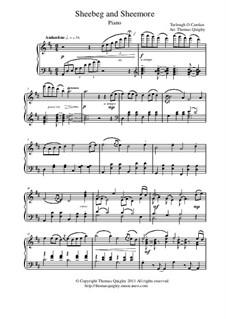 Sheebeg and Sheemore: Für Klavier Solo by Turlough O'Carolan