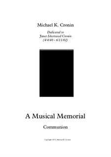 A Musical Memorial: Communion by Michael Cronin