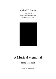 A Musical Memorial: Hope and Trust by Michael Cronin