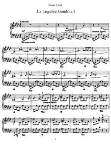 Der Trauergondol I, S.200/1: Für Klavier by Franz Liszt