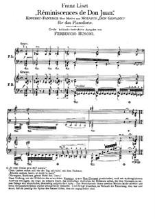 Réminiscences de 'Don Juan'. Transcription on Themes by Mozart, S.418: Für zwei Klaviere, vierhändig by Franz Liszt