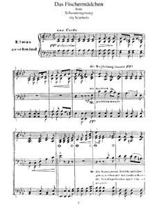 Nr.10 Das Fischermädchen: Für Klavier, S.560 No.2 by Franz Schubert