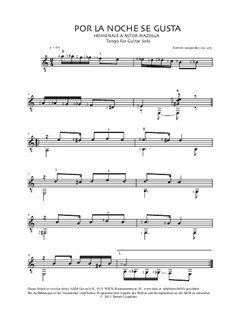Por La Noche Se Gusta, Op.275: Por La Noche Se Gusta by Berndt Leopolder