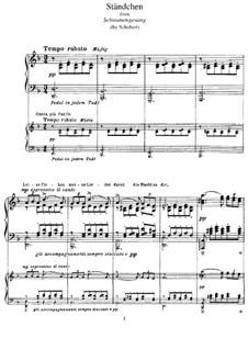 Nr.4 Ständchen: Für Klavier, S.560 No.7 by Franz Schubert