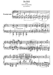 Nr.9 Ihr Bild: Für Klavier, S.560 No.8 by Franz Schubert