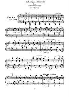 Nr.3 Frühlingssehnsucht: Für Klavier, S.560 No.9 by Franz Schubert