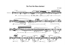 Xis No.4 for Bass clarinet, MVWV 563: Xis No.4 for Bass clarinet by Maurice Verheul
