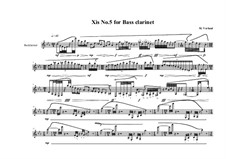 Xis No.5 for Bass clarinet, MVWV 564: Xis No.5 for Bass clarinet by Maurice Verheul