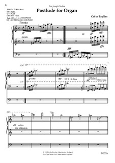 Postlude for Organ, B61: Postlude for Organ by Colin Bayliss