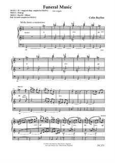 Funeral Music for organ, B90: Funeral Music for organ by Colin Bayliss