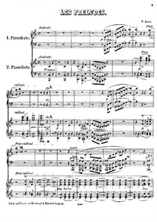 Symphonische Dichtung Nr.3 'Les préludes', für zwei Klaviere, vierhändig, S.637: Symphonische Dichtung Nr.3 'Les préludes', für zwei Klaviere, vierhändig by Franz Liszt