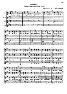 Carol of the Bells: Für Frauenchor by folklore