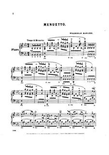 Acht Klavierstücke, Op.41: Stück Nr.1 (Menuett) by Woldemar Bargiel