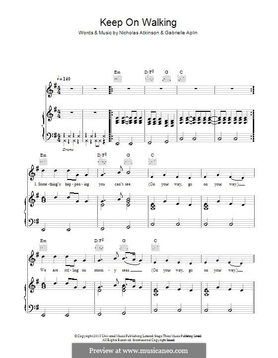 Keep on Walking: Für Stimme und Klavier (oder Gitarre) by Nicholas Atkinson, Gabrielle Aplin