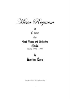 Missa requiem, CS044: Complete by Santino Cara
