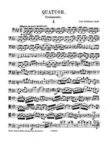 Klavierquartett in f-moll, Op.10: Cellostimme by Léon Boëllmann