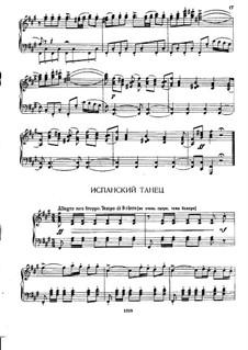 Nr.21 Spanischer Tanz: Für Klavier by Pjotr Tschaikowski