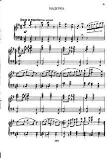 Nr.23 Mazurka: Für Klavier by Pjotr Tschaikowski