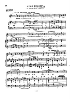 Die Zauberin, TH 9: Arie des Prince by Pjotr Tschaikowski
