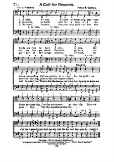A Call for Reapers: For voice and mixed choir by Flora Hamilton Cassel