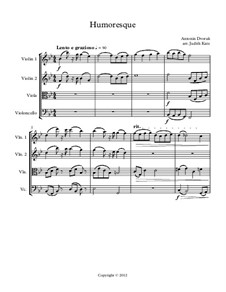 Humoresque - for string quartet: Partitur by Antonín Dvořák