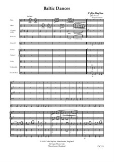 Baltic Dances, B28: For orchestra – score by Colin Bayliss