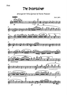 The Entertainer: For woodwind quintet - flute by Scott Joplin