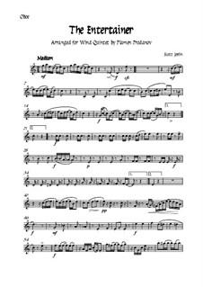 The Entertainer: For woodwind quintet - oboe by Scott Joplin