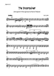 The Entertainer: For woodwind quintet - horn by Scott Joplin