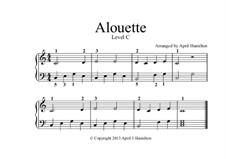 Alouette: For piano – Level C by folklore
