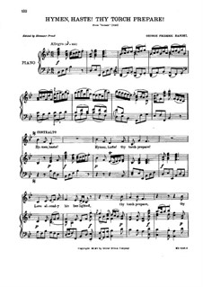 Semele, HWV 58: Hymen haste! Thy torch prepare! by Georg Friedrich Händel