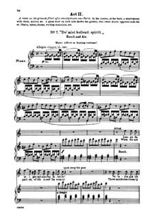 Fragmente: Akt II Nr.7 De' miei bollenti spiriti, für Stimmen und Klavier by Giuseppe Verdi
