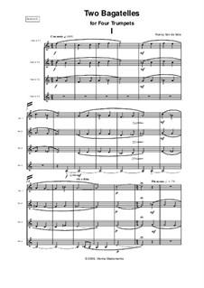 Two Bagatelles: For four trumpets by Nancy Van de Vate
