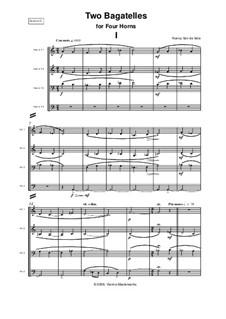 Two Bagatelles: For four horns by Nancy Van de Vate