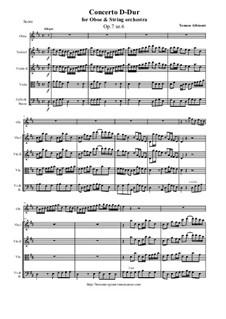 Concerto No.6 in D Major: For oboe and string orchestra by Tomaso Albinoni
