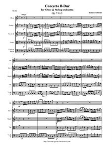 Concerto No.3 in B Flat Major: For oboe and string orchestra by Tomaso Albinoni