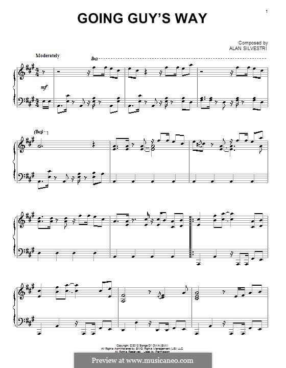 Going Guy's Way: Für Klavier by Alan Silvestri
