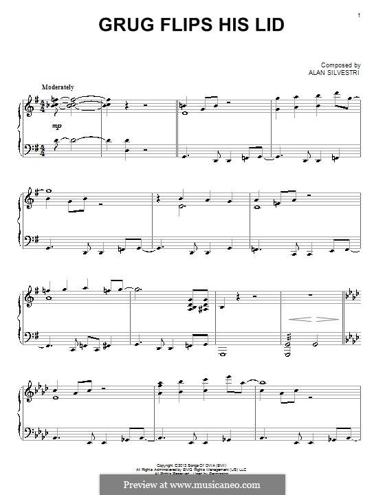 Grug Flips His Lid: Für Klavier by Alan Silvestri