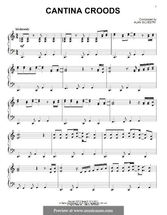 Cantina Croods: Für Klavier by Alan Silvestri