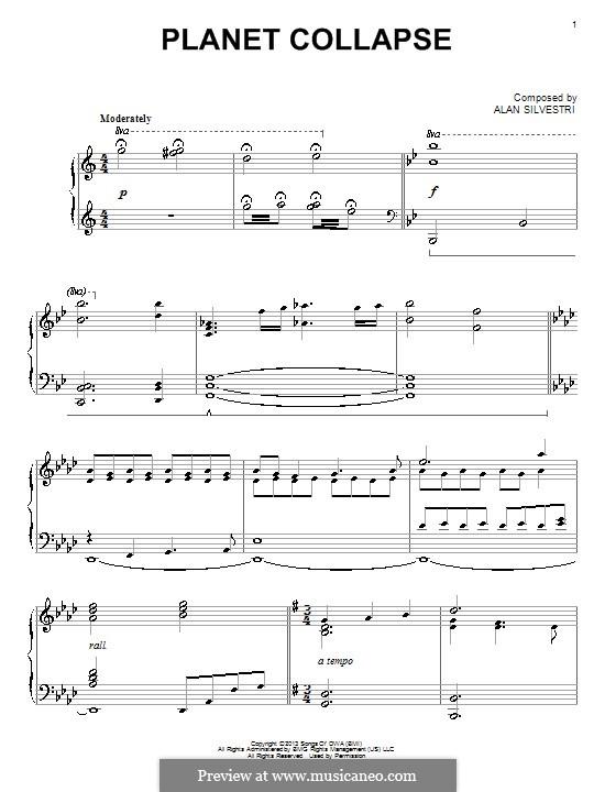 Planet Collapse: Für Klavier by Alan Silvestri