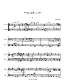 Viola Duet No.10: Viola Duet No.10 by Jordan Grigg
