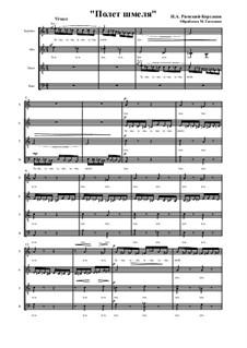 Das Märchen vom Zaren Saltan. Oper: Flight of the Bumblebee, for mixed choir by Nikolai Rimsky-Korsakov