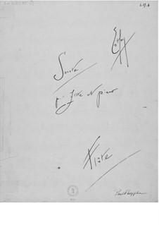 Sonate für Flöte und Klavier: Flötenstimme by Ernst Levy