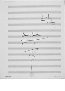 Sonatine Nr.2 für Violine und Klavier: Vollpartitur by Ernst Levy