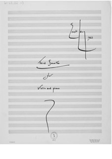 Sonate Nr.3 für Violine und Klavier: Vollpartitur by Ernst Levy