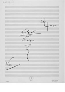 Sonate Nr.3 für Violine und Klavier: Violinstimme by Ernst Levy